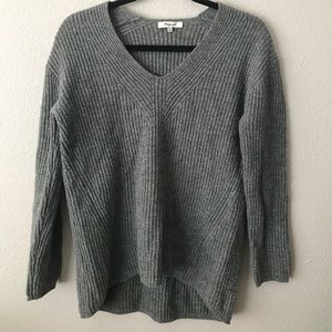 Madewell Grey vneck sweater